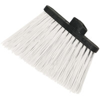 Carlisle 3686702 Duo-Sweep Medium Duty Angled Broom Head with Flagged White Bristles - 12/Case