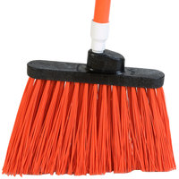 Carlisle 3686724 Duo-Sweep Medium Duty Angled Broom Head with Flagged Orange Bristles - 12/Case