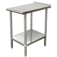 Advance Tabco TFMSU-180 Stainless Steel Equipment Filler Table with Adjustable Undershelf - 18 inch x 30 inch