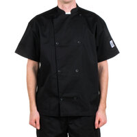 Chef Revival J005BK-M Knife and Steel Size 42 (M) Customizable Short Sleeve Chef Jacket