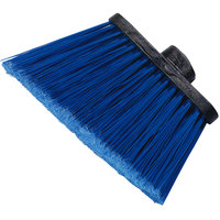 Carlisle 3686714 Duo-Sweep Medium Duty Angled Broom Head with Flagged Blue Bristles - 12/Case