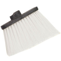 Carlisle 3686802 Duo-Sweep Heavy Duty Angled Broom Head with Unflagged White Bristles - 12/Case