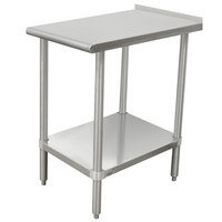 Advance Tabco TFMSU-182 Stainless Steel Equipment Filler Table with Adjustable Undershelf - 18 inch x 24 inch