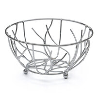 Elite Global Solutions WB94 9 inch Gunmetal Gray Round Wire Basket