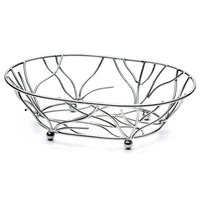Elite Global Solutions WB1283 Chrome Oval Metal Wire Basket - 12 inch x 8 inch x 3 inch