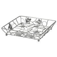 Elite Global Solutions WB12122 12 inch Gunmetal Gray Square Metal Leaf Wire Basket
