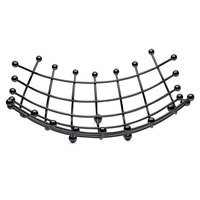 Elite Global Solutions SS13133 Black Square Metal Wire Basket - 13 1/2 inch x 13 1/2 inch x 4 1/2 inch
