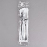 WNA Comet Wrapped Cutlery Pack with Knife, Fork, Napkin, Salt, Pepper - 125/Case
