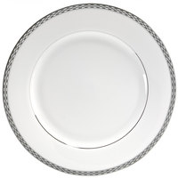 10 Strawberry Street ATH-24P 11 7/8 inch Athens Two-Tone Silver Round Charger Plate