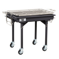 Backyard Pro 30 inch Heavy Duty Steel Charcoal Grill with Removable Legs and Cover