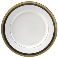 10 Strawberry Street SAH-24BK 11 7/8 inch Sahara Black Round Charger Plate