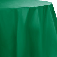 Creative Converting 703261 82 inch Emerald Green OctyRound Disposable Plastic Table Cover - 12/Case