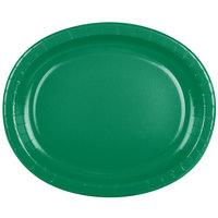 Creative Converting 433261 12 inch x 10 inch Emerald Green Oval Paper Platter - 96/Case