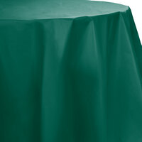 Creative Converting 703124 82 inch Hunter Green OctyRound Disposable Plastic Table Cover - 12 / Case