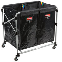 Rubbermaid Laundry Cart, 4 Bushel Collapsible Two Section X-Cart - 1881781