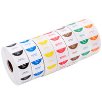 Noble Products 1 inch Removable Day of the Week Dot Labels - 1 Roll of Each Day, 1000 / Roll