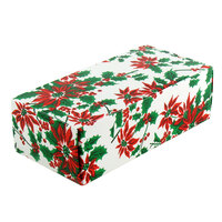 4 1/2 inch x 2 5/16 inch x 1 1/8 inch 1-Piece 1/4 lb. Poinsettia Candy Box - 250 / Case