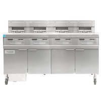 Frymaster FPGL430-CA Liquid Propane Floor Fryer with Four 30 lb. Frypots and Automatic Top Off - 300,000 BTU