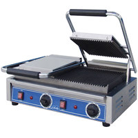 Globe GPGDUE10 Bistro Series Double Sandwich Grill with Grooved Plates - 208/240V, 3200W