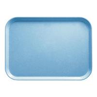 Cambro 2632518 10 7/16 inch x 12 3/4 inch (26,5 x 32,5 cm) Rectangular Metric Robin Egg Blue Fiberglass Camtray - 12 / Case