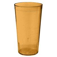 GET 6620-1-6-A 20 oz. Amber SAN Plastic Textured Tumbler - 72 / Case