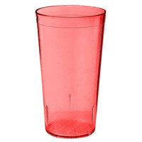 GET 6624-1-6-R 24 oz. Red SAN Plastic Textured Tumbler - 72 / Case