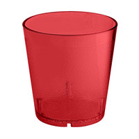 GET 6609-1-6-R 9 oz. Red SAN Plastic Textured Tumbler - 72/Case