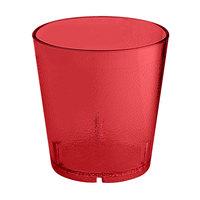 GET 6609-1-6-R 9 oz. Red SAN Plastic Textured Tumbler -72 / Case