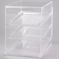 Cal-Mil 241 Classic Three Tier Acrylic Display Case with Rear Door - 13 1/2 inch x 22 inch x 21 inch