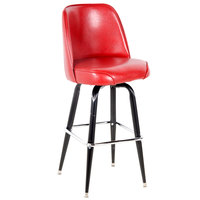 Lancaster Table & Seating Deluxe Crimson Barstool with 19 inch Wide Bucket Seat