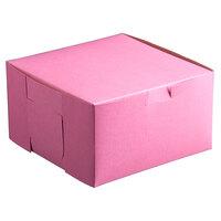 26 inch x 18 1/2 inch x 4 inch Pink Cake / Bakery Box - 25 / Bundle