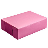 14 inch x 10 inch x 4 inch Pink Cake / Bakery Box - 100 / Bundle