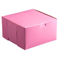 10 inch x 10 inch x 3 inch Pink Cake / Bakery Box - 200 / Bundle