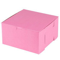 Southern Champion 865 9 inch x 9 inch x 5 inch Pink Cake / Bakery Box - 100/Bundle