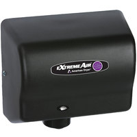 American Dryer CPC9-BG ExtremeAir Automatic Hand Dryer and Sanitizer with Steel Black Graphite Cover - 100-240V, 800-1500W