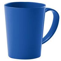 Carlisle 4306814 12 oz. Nesting Ocean Blue Tritan Mug - 12 / Case