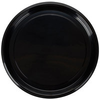 Fineline Platter Pleasers 7610TF PET Plastic Black Thermoform 16 inch Catering Tray 25 / Case