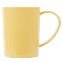 Carlisle 4306622 8 oz. Honey Yellow Tritan Stackable Mug - 12/Case