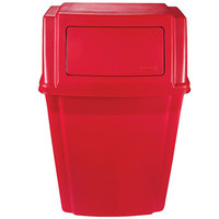 Rubbermaid 1829402 Slim Jim Red 15 Gallon Wall Mounted Trash Container (1829402)