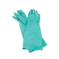 San Jamar 19NUM 19 inch Nitrile Medium Pot and Sink Gloves