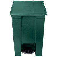 Rubbermaid 1829417 Green Rectangular Plastic Step-On Container 12 Gallon