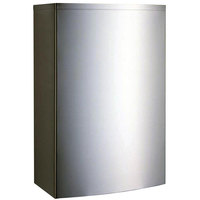 Bobrick B-277 Stainless Steel Surface-Mounted Waste Receptacle