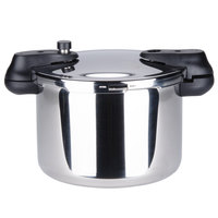 Matfer 013203 8.5 Qt. (8 Liter) Stainless Steel Pressure Cooker with Steamer Basket