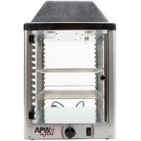 APW Wyott DWCi-14 14 inch Countertop Merchandising Display Warmer with Two Shelves - 120V, 208W