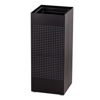 Rubbermaid SCSUT Silhouettes Black Square Steel Sand-Top Urn (FGSCSUTBK)
