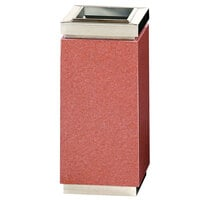 Rubbermaid DM12T Accents Sierra Red Square Granite and Stainless Steel Waste Receptacle with Galvanized Steel Liner 5 Gallon (FGDM12TSRG)