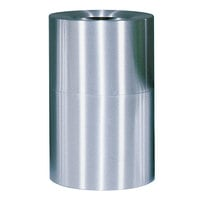 Rubbermaid AOT62 Atrium Satin Finish 2-Piece Round Open Top Aluminum Waste Receptacle 55 Gallon (FGAOT62SA)