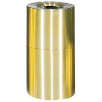 Rubbermaid AOT62 Atrium Satin Brass 2-Piece Round Open Top Aluminum Waste Receptacle 55 Gallon (FGAOT62SB)