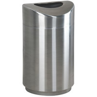 Rubbermaid R2030 Eclipse Round Open Top Stainless Steel Waste Receptacle with Rigid Plastic Liner 30 Gallon (FGR2030SSPL)