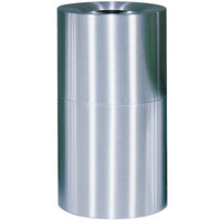Rubbermaid AOT35 Atrium Satin Finish 2-Piece Round Open Top Aluminum Waste Receptacle with Rigid Plastic Liner 21 Gallon (FGAOT35SAPL)